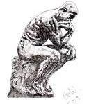 statue of man thinking