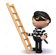 Animated Robber with Ladder