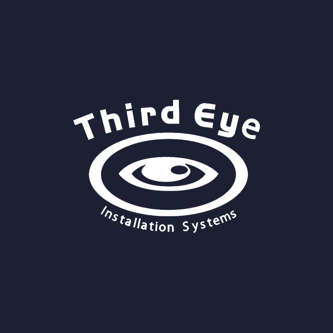 Third Eye Logo on Blue Background