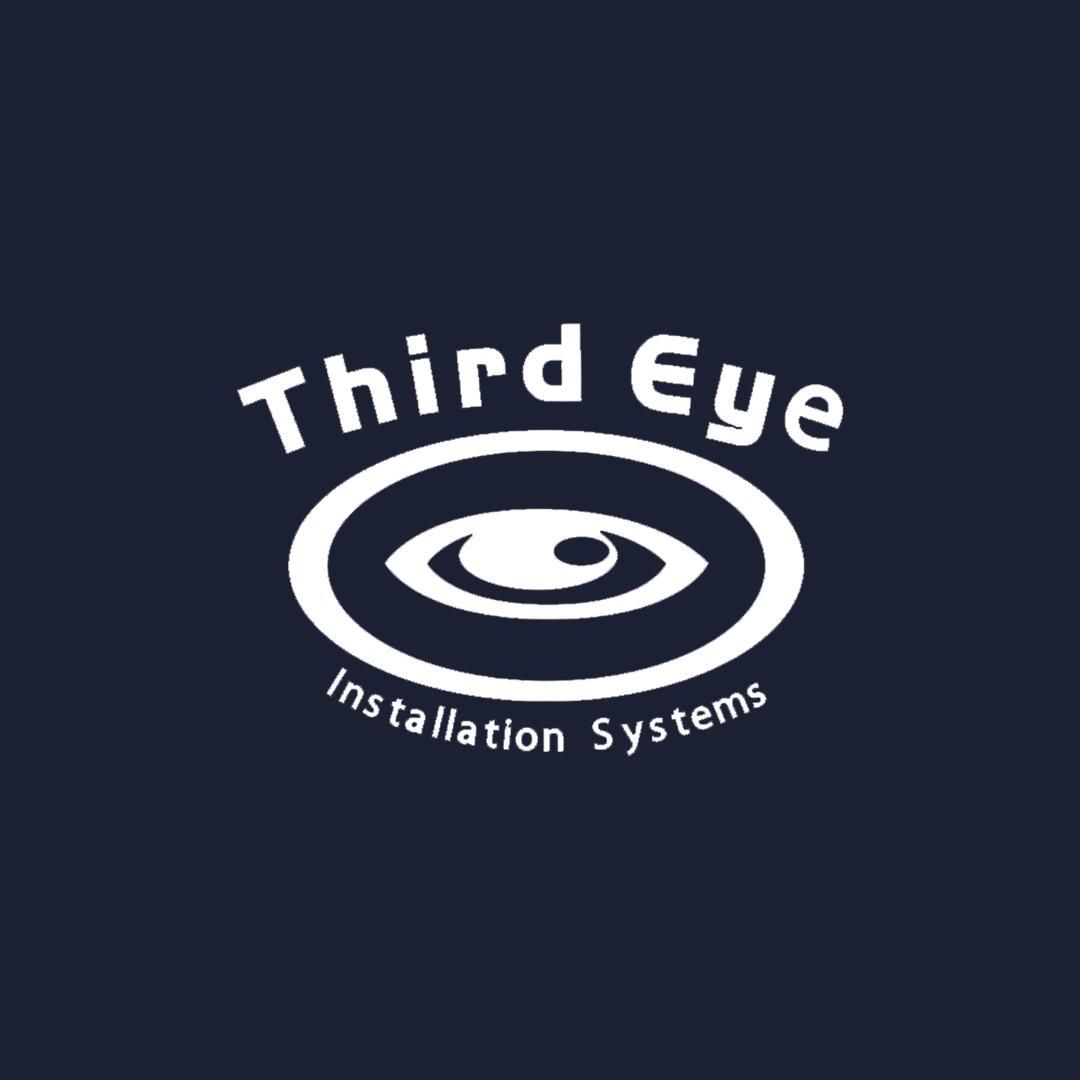 Third Eye Logo on Blue Background